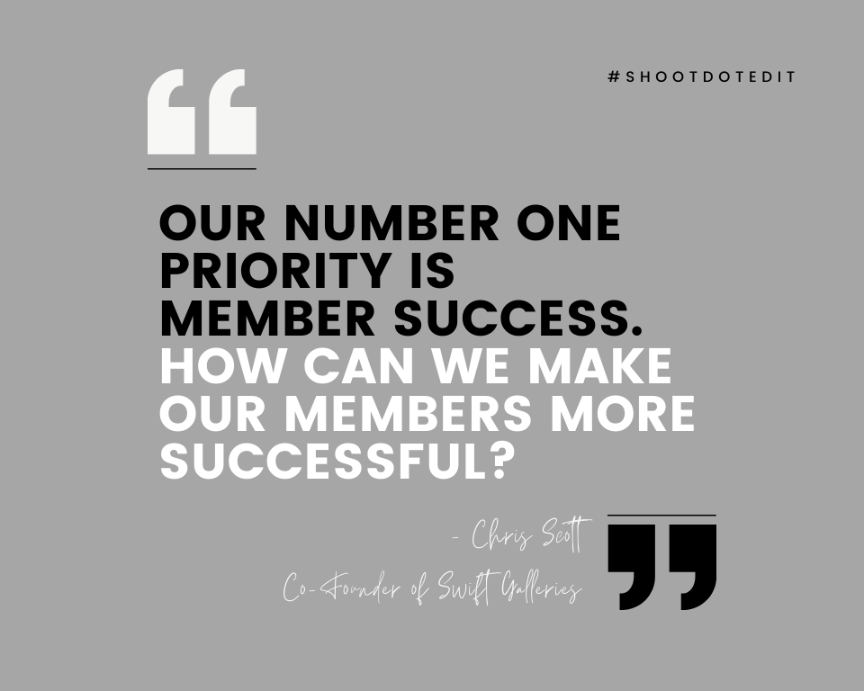 Infographic stating our number one priority is member success. How can we make our members more successful