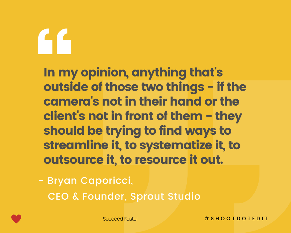 Infographic stating a quote from Bryan Caporicci